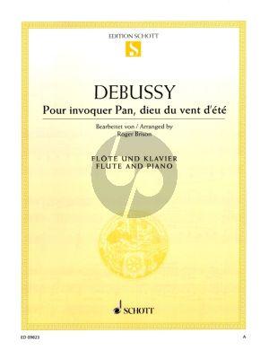 Debussy Pour invoquer Pan, dieu du vent d'ete Flute and Piano (edited by Roger Brison)