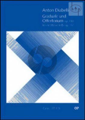 Graduale & Offertorium Op.110 (fur die Messe in Es Op.107) (Bass-SATB- 2 Vi.-Bc)