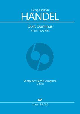 Handel Dixit Dominus HWV 232 Soli-Chor-Orch. Partitur