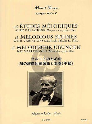 Moyse 25 Etudes Mélodiques avec Variations pour Flute