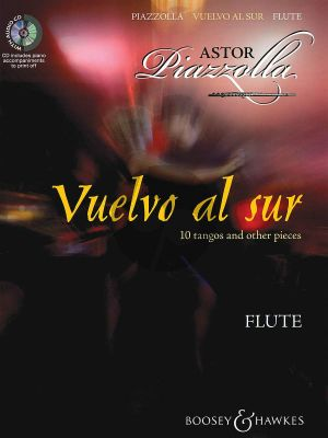 Piazzolla Vuelvo al Sur for Flute (Bk-Cd) (CD with printable piano part)