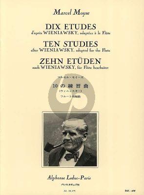 Moyse 10 Etudes d'apres Wieniawsky pour Flute