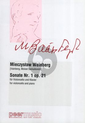 Weinberg Sonate No.1 Op.21 (1945) Violoncello-Klavier (Vainberg, Moisei Samuilovich)
