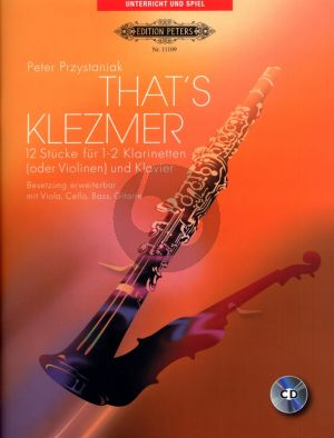 Przystaniak That's Klezmer 1 - 2 Clarinets [Vi.]-Piano (Bk-Cd) (CD with demo and play-along version)