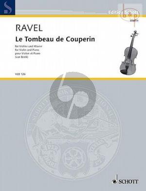 Ravel Le Tombeau de Couperin Violin-Piano (arr. Matthew van Brink)