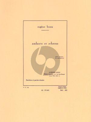 Bozza Andante et Scherzo 4 Saxophones (SATB) (Score/Parts)