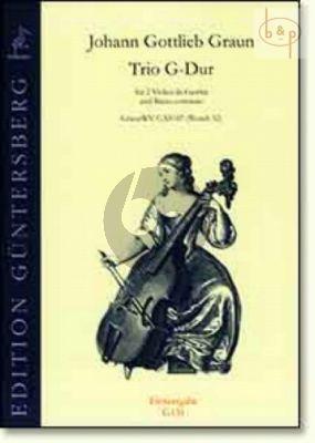 Trio G-major WV C:XV:87 (Wendt 52) (2 Violas da Gamba-Bc)