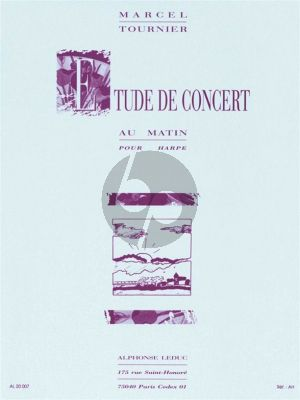 Tournier Etude de Concert (Au Matin) Harpe