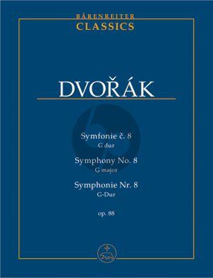 Dvorak Symphonie No.8 G-dur Op.88 Studienpartitur (ed. František Bartoš) (Barenreiter-Urtext)