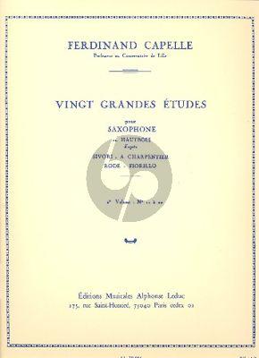 Capelle 20 Grandes Etudes Vol.2 No.11 - 20 Hautbois ou Saxophone (d'apres Sivori-A.Charpentier-Rode & Fiorillo)
