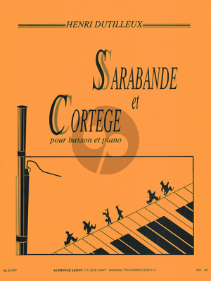 Dutilleux Sarabande & Cortege Basson-Piano