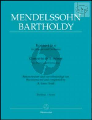 Concerto e-minor (Piano-Orch.) (Full Score)