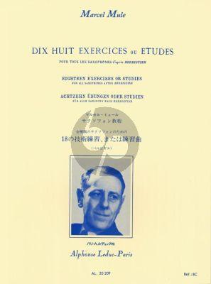 Mule 18 Exercises ou Etudes d'apres Berbiguier (all saxophones)
