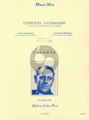 Mule Etudes Journaliers d'apres Terschak (pour tous les Saxophones)