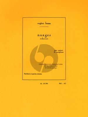 Bozza Nuages (Scherzo) 4 Saxophones (SATB) (Score/Parts)