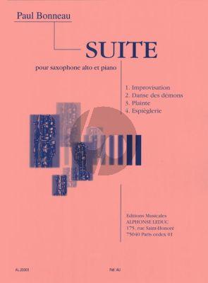 Bonneau Suite Saxophone alto-Piano