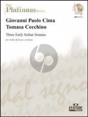 3 Early Italian Sonatas (Violin-Bc)