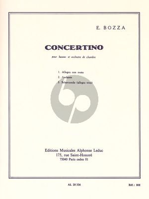 Bozza Concertino Op.49 Bassoon-Chamber Orchestra (piano red.)