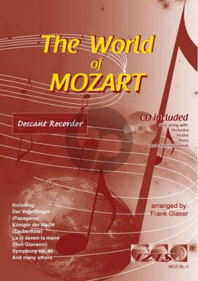The World of Mozart for Descant Recorder (Bk-Cd) (arr. Frank Glaser)