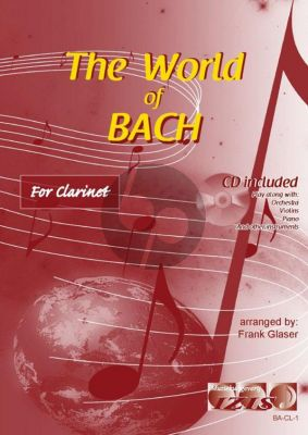 The World of Bach for Clarinet (Bk-Cd) (arr. Frank Glaser)