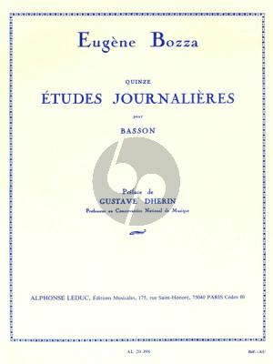 Bozza 15 Etudes Journaliers Op.64 Basson (Gr.8)