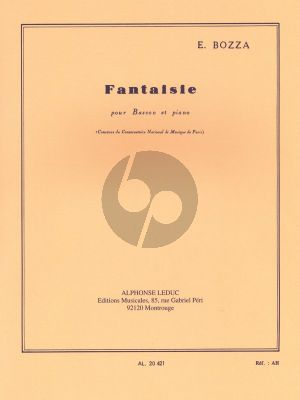 Bozza Fantaisie Basson-Piano