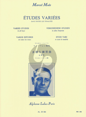 Mule Etudes Variées dans toutes les Tonalités pour Saxophone