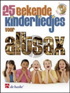 25 Bekende Kinderliedjes (Alto Sax.) (Bk-Cd)