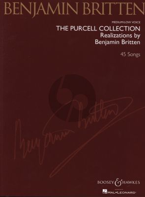 Purcell Collection (45 Songs) Medium Low Voice-Piano (Realizations by Benjamin Britten)