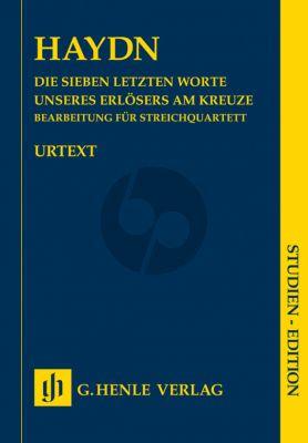 Haydn Die 7 letzten Worte unseres Erlosers am Kreuze Hob.XX:1B (Op.51) String Quartet Version (Study Score) (Henle-Urtext)