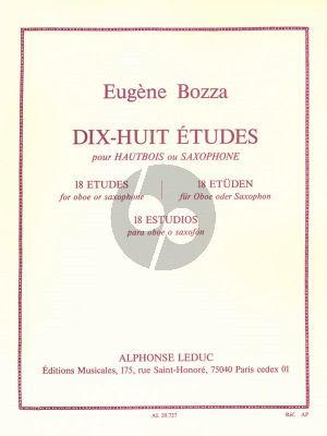 Bozza 18 Etudes pour Hautbois (ou Saxophone)