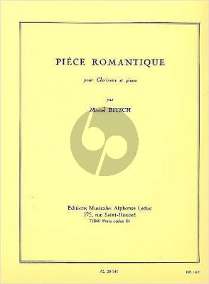 Bitsch Piece Romantique Clarinette-Piano