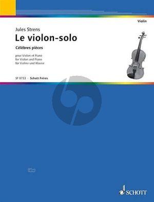 Le Violon Solo - The Violin Solist Violine-Klavier (Jules Strens)