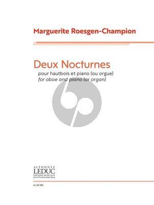 Roesgen-Champion 2 Nocturnes Oboe-Piano (or Organ)