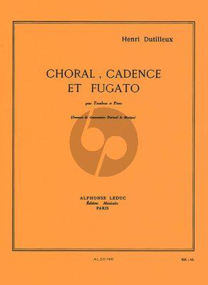 Dutilleux Choral-Cadence et Fugato Trombone et Piano