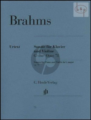 Brahms Sonata G-major Op.78 Violin and Piano (edited by Hans Otto Hiekel)