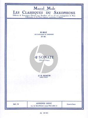 Bach Sonate No.4 Saxophone alto et Piano (orig. Flute) (transcr. Marcel Mule)