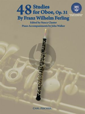 Ferling 48 Etudes Op.31 Oboe (Bk-Cd) (CD with a printable piano part) ( edited by N.Clauter)