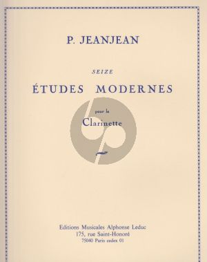 JeanJean 16 Etudes Modernes pour Clarinette