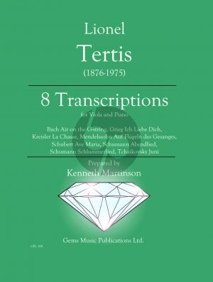 Tertis 8 Transcriptions (edited by Kenneth Martinson)