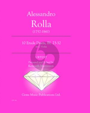 Rolla 10 Etude Duets BI. 23 - 32 for 2 Violas (Prepared and Edited by Kenneth Martinson) (Urtext)