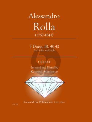 Rolla 78 Duets Volume 3 BI. 40 - 42 Violin - Viola (Prepared and Edited by Kenneth Martinson) (Urtext)