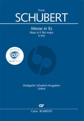 Schubert Messe Es-dur D.950 Soli-Chor-Orchester Klavierauszug (ed. Werner Bodendorff) (KA von Paul Horn)
