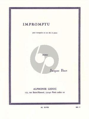Ibert Impromptu Trompette [Bb/C] et Piano