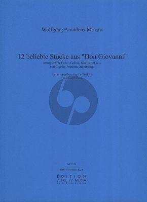 Mozart 12 Beliebte Stucke aus Don Giovanni Flöte oder Violine (Klarinette)