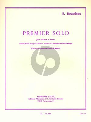 Bourdeau Premier Solo Basson-Piano