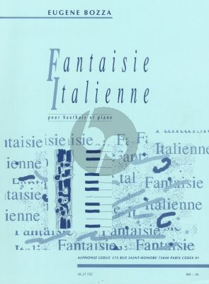 Bozza Fantaisie Italienne Hautbois-Piano
