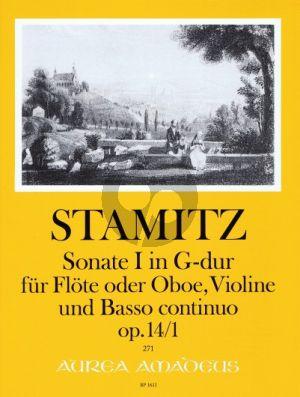 Stamitz 6 Triosonatas Op.14 No.1 G-major Flute [Oboe]- Vi.-Bc) (Score/Parts) (Pauler) (Bernhard Pauler) (Andres Kohn)