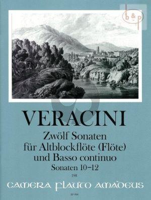 Veracini 12 Sonaten Vol.4 No. 10 - 12 Treble Recorder [Flute]-Bc (edited by Winfried Michel)