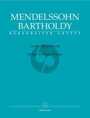 Mendelssohn Lieder ohne Worte Piano solo (edited by R.Larry Todd) (Barenreiter-Urtext)